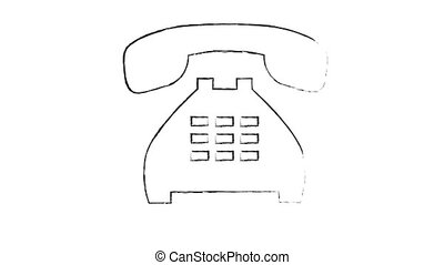 The phone rings on a white background. 60 fps. HD