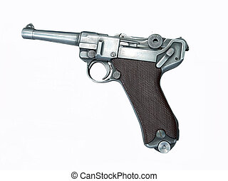The photo of Luger pistol
