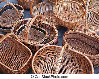 The photo of many baskets