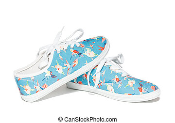 shoes on a white background