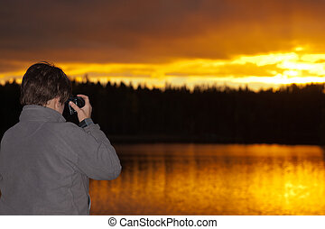 The photographer at sunset