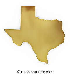 The photorealistic golden shape of Texas (series) - The ...
