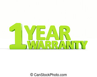 Warranty - The phrase Warranty on ? white background