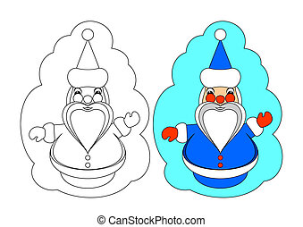 The picture for coloring. Santa Cla