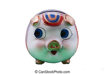 the picture of the pig money box