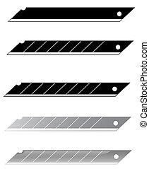 a set of blades for stationery knif