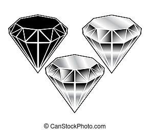 black-and-white crystals set on a w