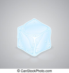 ice cube - The picture shows the blue ice cube.
