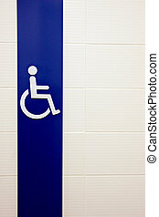 Symbols for People Disabled Washrooms.
