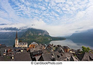 The  picturesque small town in Austria - Hallstatt