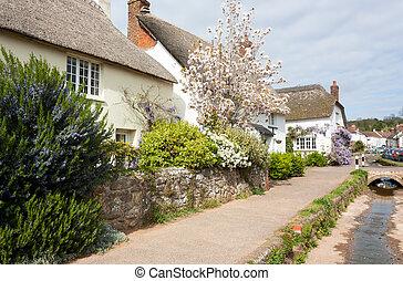 The picturesque village of Otterton Devon England UK