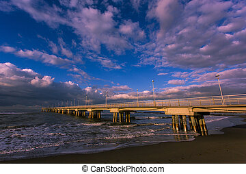 The pier at dawn