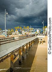 The pier in Venice Beach, Los Angeles, California.