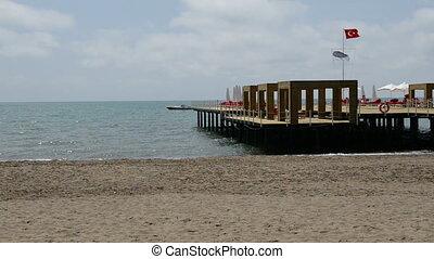 The pier near beach at the luxury h