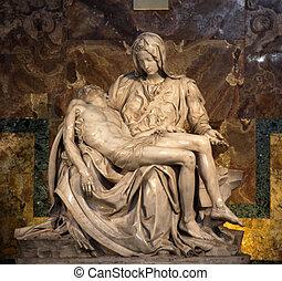 The Piet? (1498-1499) by Michangelo Buonarroti, housed in...