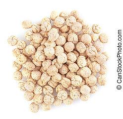 The piles of pale whole grain children