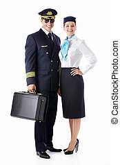 The pilot and stewardess - The pilot and flight attendant ...