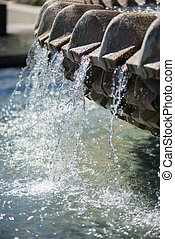 The Pineapple Fountain, at the Waterfront Park in Charleston...