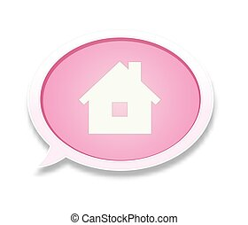 The pink bubble with home icon - the house pictogram inside...