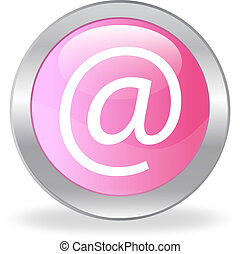 The pink button with e-mail symbol