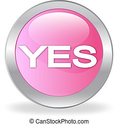 """The pink button with """"YES"""""""