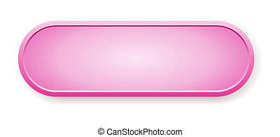 The pink glossy button