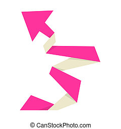 The pink origami arrow