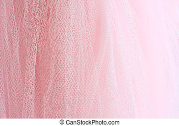 The pink tutu. - Feminine pink fabric background.