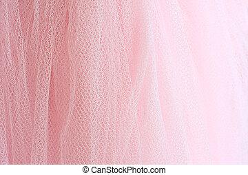 The pink tutu. - Feminine pink fabric background.