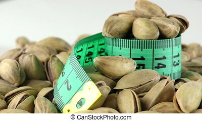 The Pistachio and Measurement Macro View
