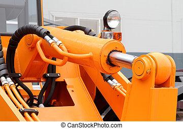 The piston hydraulic drive a modern tractor.