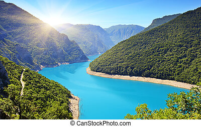 reservoir - The Piva Canyon with its fantastic reservoir. ...