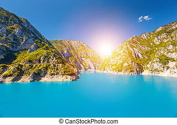 The Piva river in Montenegro