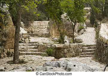 the place emmaus in ISrael where Jesus Christ walked from...