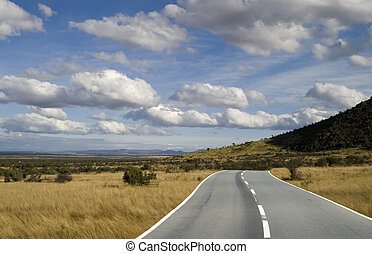 The plains highway - Highway running trough the plains under...