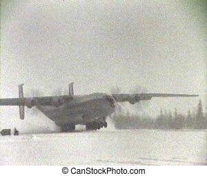 The plane at the North pole. Chronicle of the USSR.
