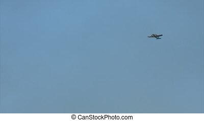 The plane in flight -USA-New York-July .