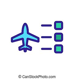 The plane is a choice of vector icon. Isolated contour symbol illustration