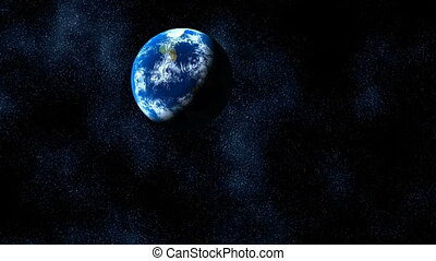 The planet in the star sky