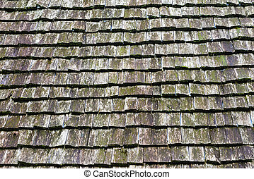 The plank wooden roof tile