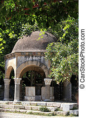 The Plateia of the Plane Tree of Hippocrates in Kos town. Greece