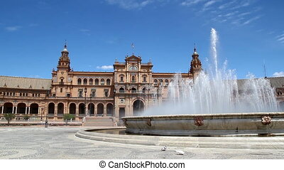 Plaza de Espana - The Plaza de Espana in Seville, Spain.