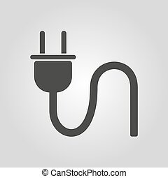 The plug icon. Electric symbol. Flat Vector illustration