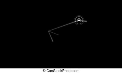 The point of destination on the black background HD