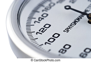 The Points of Sphygmomanometer for measuring pressure