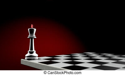 The political balance - Chess pieces on an artistic...