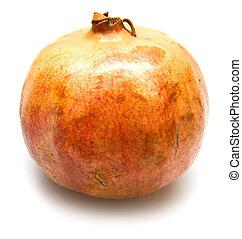 pomegranate on white