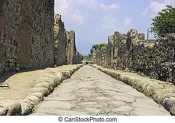 The Pompeii street.