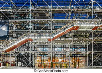 the pompidou center museum  beaubourg paris cityscape  France