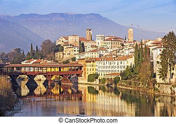 The Ponte Vecchio in Bassano del Grappa